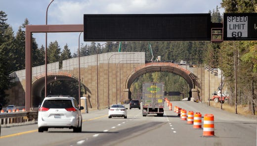 State combats collisions with new wildlife bridge over I-90