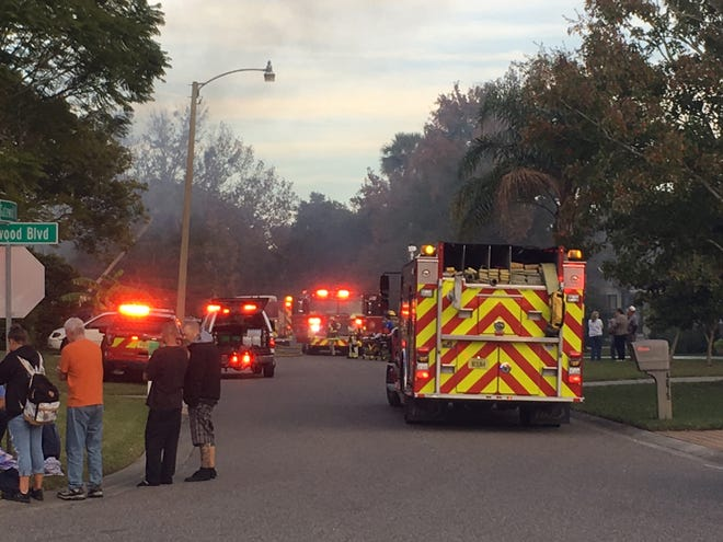 A fire at a Gatewood Street mobile home park near Cocoa left two people injured Wednesday afternoon.