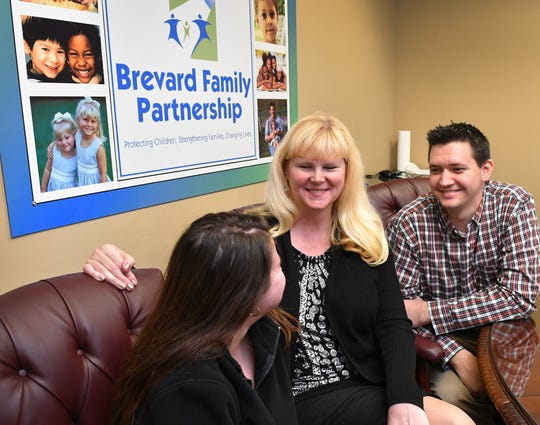 Colleen and Adam Browne have fostered several children of a variety of ages, including Sierrah, 18. They were interviewed at Brevard Family Partnership in Melbourne.