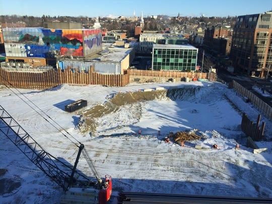The CityPlace construction site on Dec. 12, 2018.