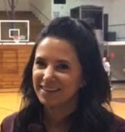 Flour Bluff girls assistant basketball coach Stephanie Solis-Grawn
