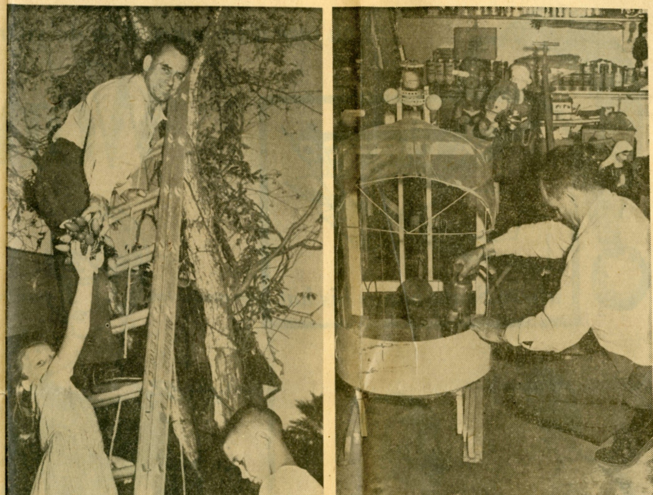 A article from the Corpus Christi Times on Dec. 16, 1964 showed Bill Aldridge hard at work setting up his house's Christmas decorations. He continued the tradition through 1985, but sold the decorations to a church in Premont in 1986 after having heart bypass surgery.
