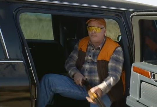 A still image from the movie, Vice, depicting the political life of former Vice President Dick Cheney.