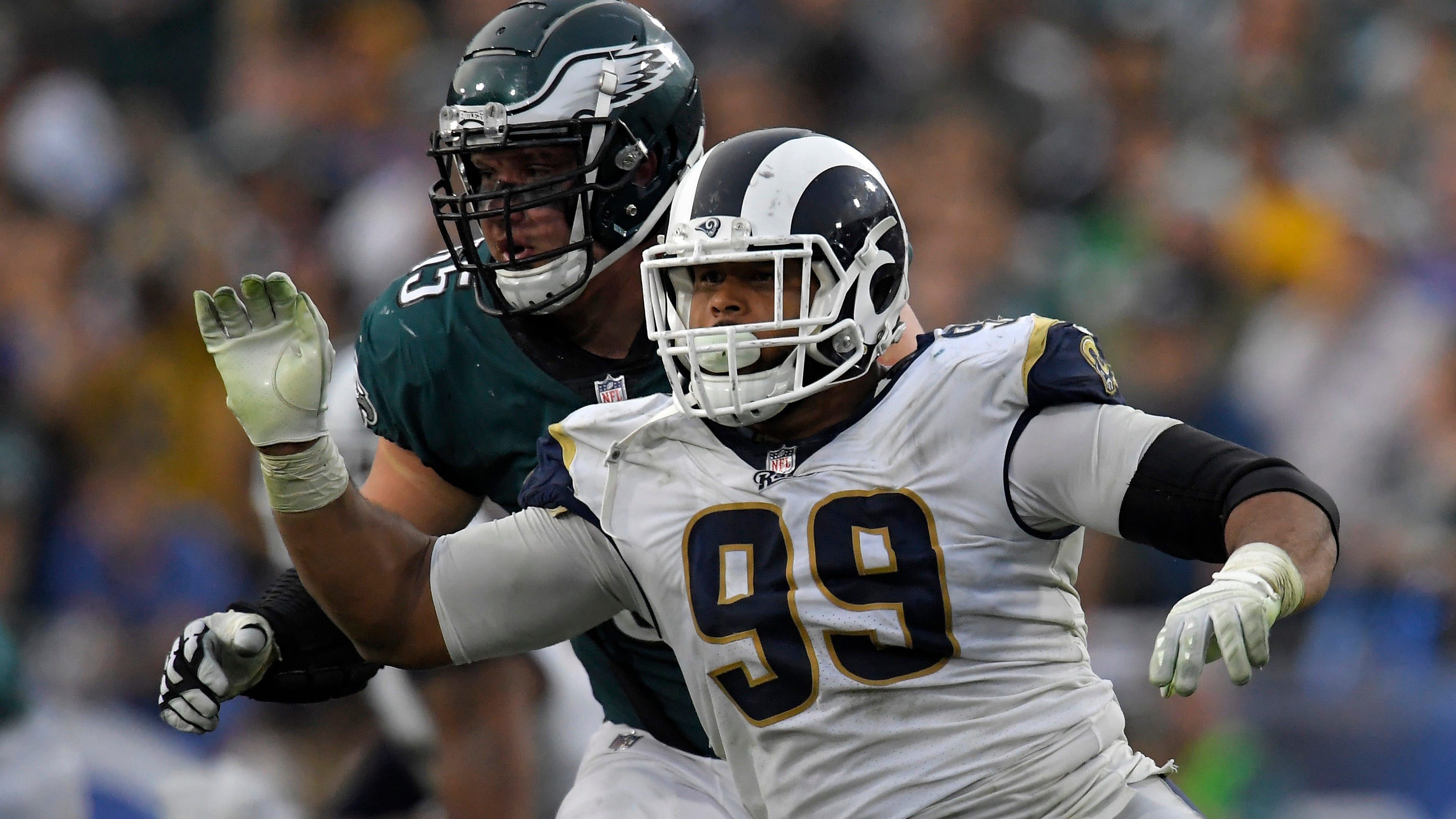 Eagles center Jason Kelce said the Rams defensive tackle duo of Aaron Donald and Ndamukong Suh is the best he's ever seen in his career
