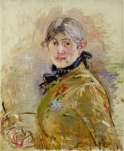 'Self Portrait, 1885' (oil on canvas) depicts the artist Morisot, Berthe (1841-95).