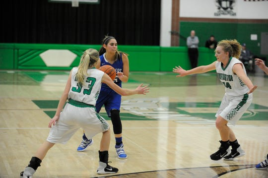 Southeastern girls defeated Western 51-45 on Monday as Macie Graves scored 23 points.