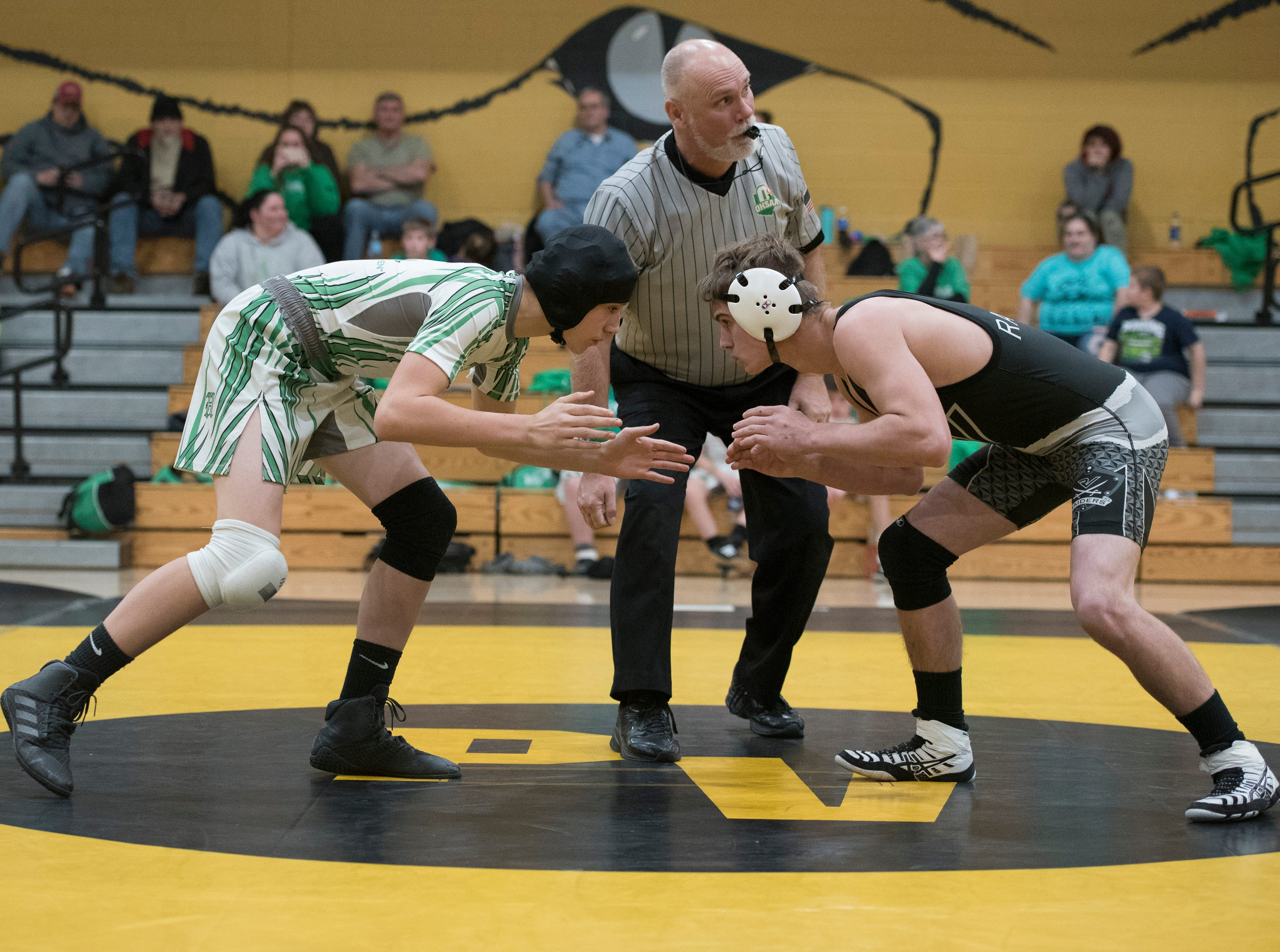 Paint Valley hosted a wrestling tri-match against Huntington and River Valley, with River Valley topping Huntington and Paint Valley and Huntington topping Paint Valley on Wednesday, December 5, 2018.