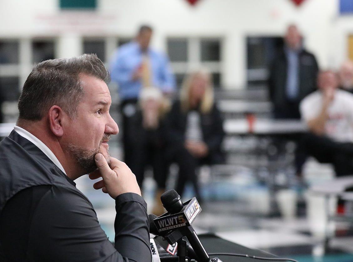 Tom Bolden was introduced as the new head football coach at Lakota West High School, Tuesday, Dec. 11,2018.
