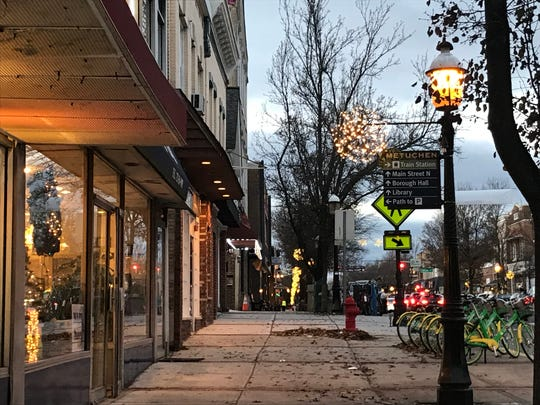 All dressed up for the holidays, downtown Metuchen has more than doubled in size to 1.4 million square feet with several recent retail and residential developments. More are under construction and planned.
