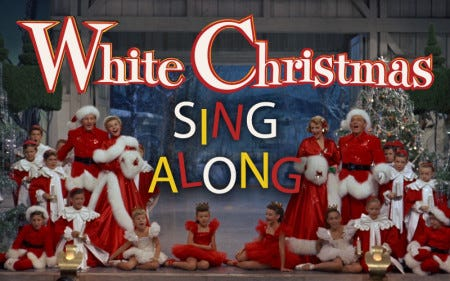At 3 p.m. Sunday, Dec. 16, Kean Stage is hosting a White Christmas Sing-Along in Union.