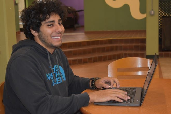 RVCC student Andru Gonzalez of Bridgewater has been using the Open Educational Resources (OER) materials in his Business Law class this semester.
