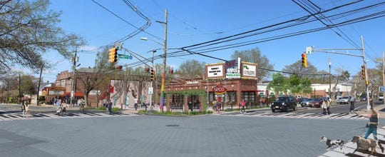 With $3.5 million in county funding, the new Metuchen Arts District will redevelop the Forum Theatre and Jersey Gas station into an indoor/outdoor arts center. Plans have yet to be approved for the project.