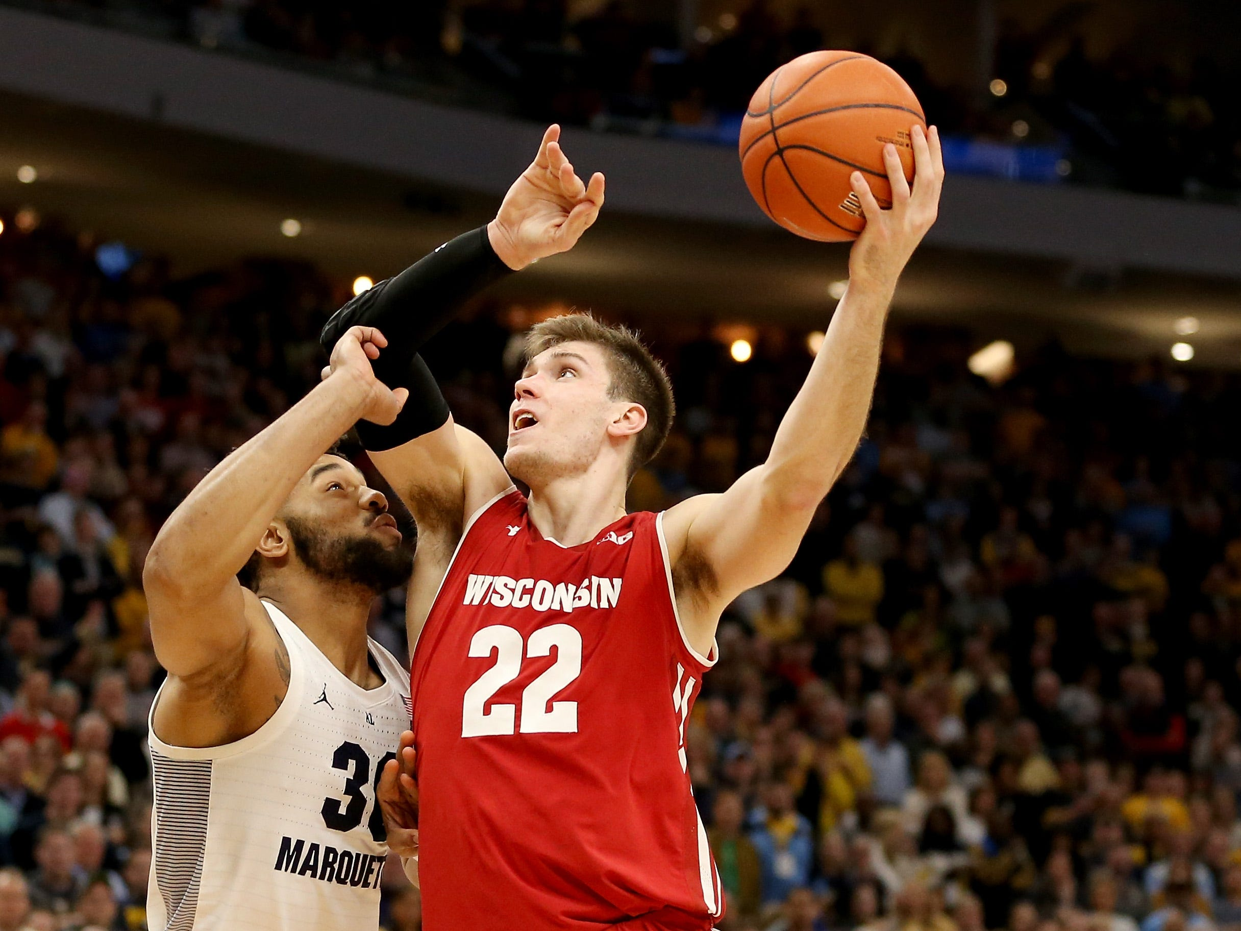 No. 3: Wisconsin Badgers (8-2, 2-0). Senior forward Ethan Happ is averaging 19.3 points, 10.8 rebounds, 4.9 assists and 1.6 blocks.