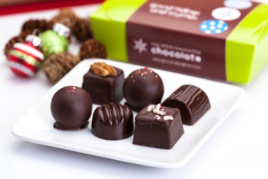 A Grocer's Daughter six-pack of holiday truffles.