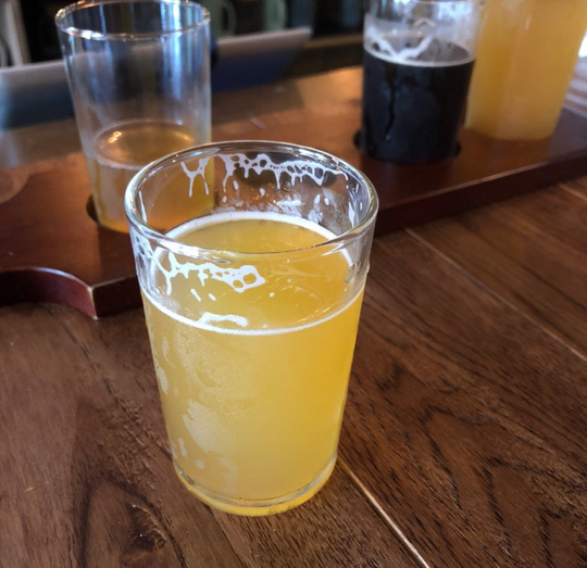 Speedball Tucker IPA by East Channel Brewing Co. in Munising, pictured June 29, 2018.