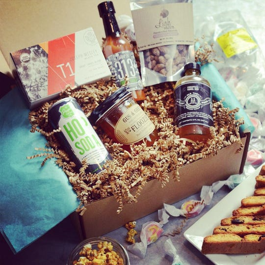 Mitten Crate packages an assortment of Michigan-made products in gift boxes.