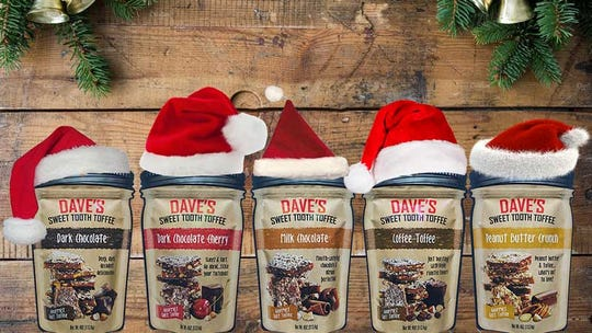 Dave's Sweet Tooth sells toffee in bags as well as Mason jars.