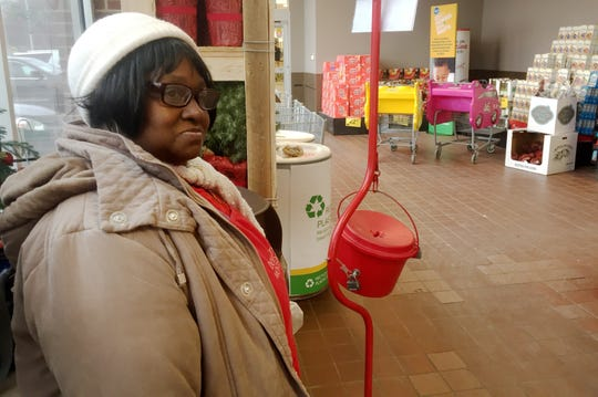 Catherine Gulledge, 64, of Roseville, was working as bell ringer for the Salvation Army when an anonymous donor dropped a gold coin estimated to be worth $1,300 in her kettle at a Kroger in St. Clair Shores.