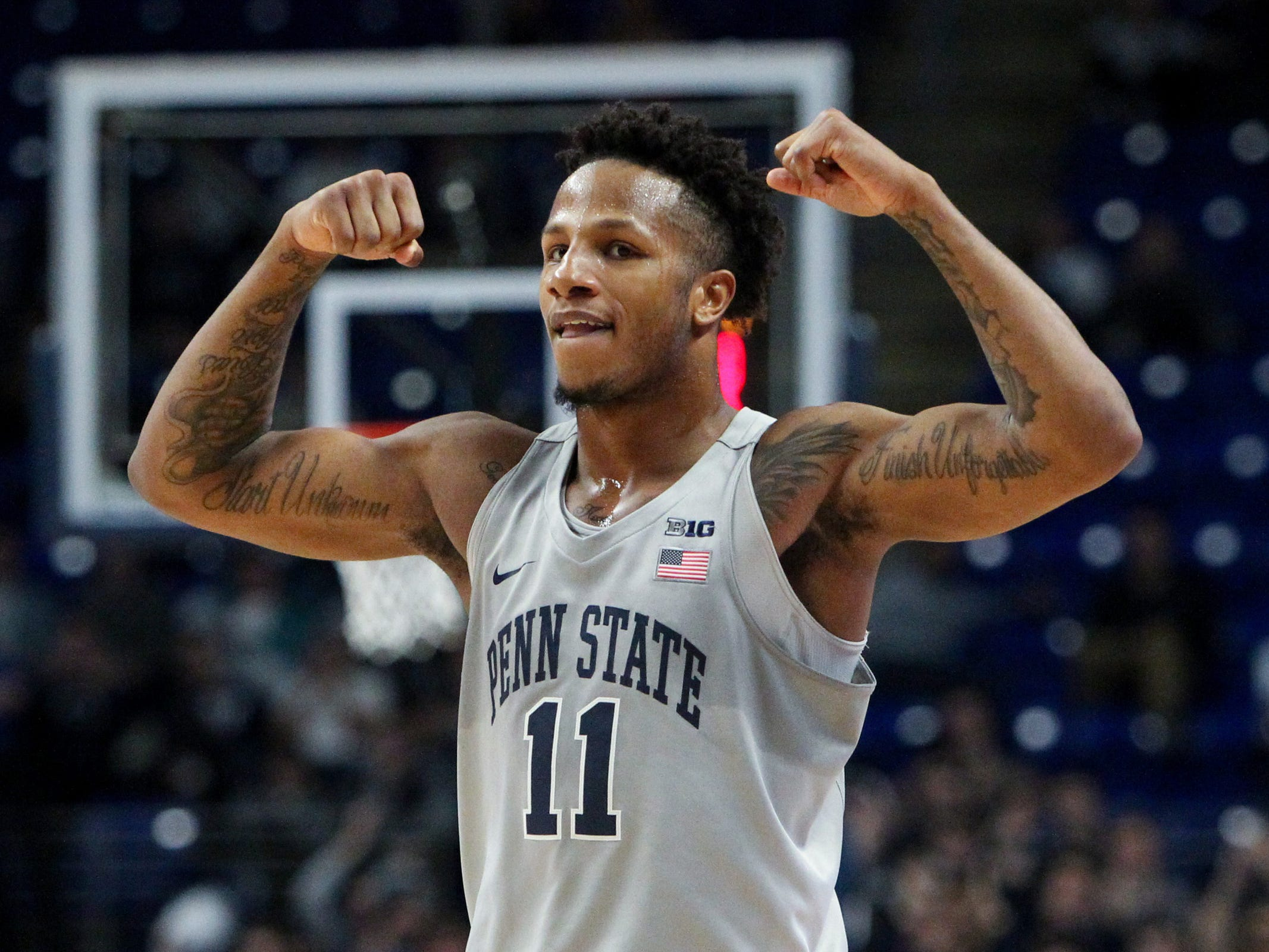No. 12: Penn State Nittany Lions (5-4, 0-2). Junior forward Lamar Stevens is averaging a team-high 20.1 points and 8.9 rebounds.