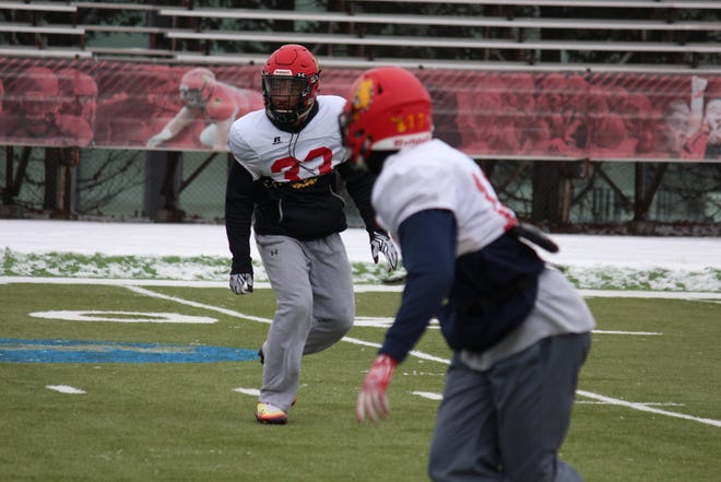 Ferris State's DeShaun Thrower, a two-sport star, practices with the team this week.