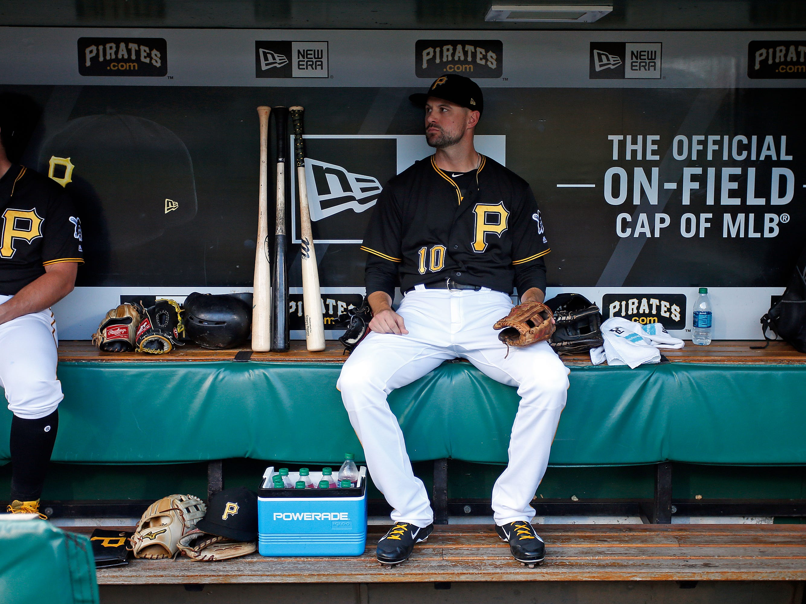 Jordy Mercer of the Pittsburgh Pirates awaits the start of the game against the New York Mets at PNC Park on July 27, 2018 in Pittsburgh, Pennsylvania.