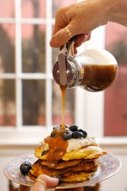 Make your own brown sugar syrup to pour over your pancakes. (Christina House/Los Angeles Times/TNS)
