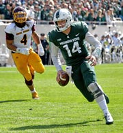 """""""There are definitely times where I feel like I have my strength back and that's really building my confidence up,"""" says QB Brian Lewerke."""