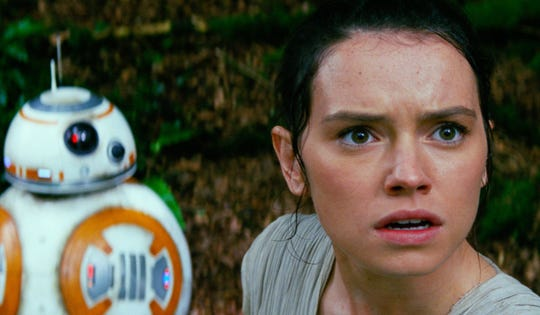 "Daisy Ridley as Rey in 2015's ""Star Wars: The Force Awakens""."