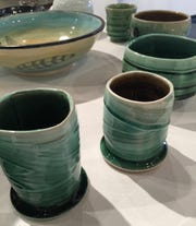 Ceramics, art, textile and more -- all made by Michigan Arts -- are for sale at the Detroit Artists' Market holiday shop.