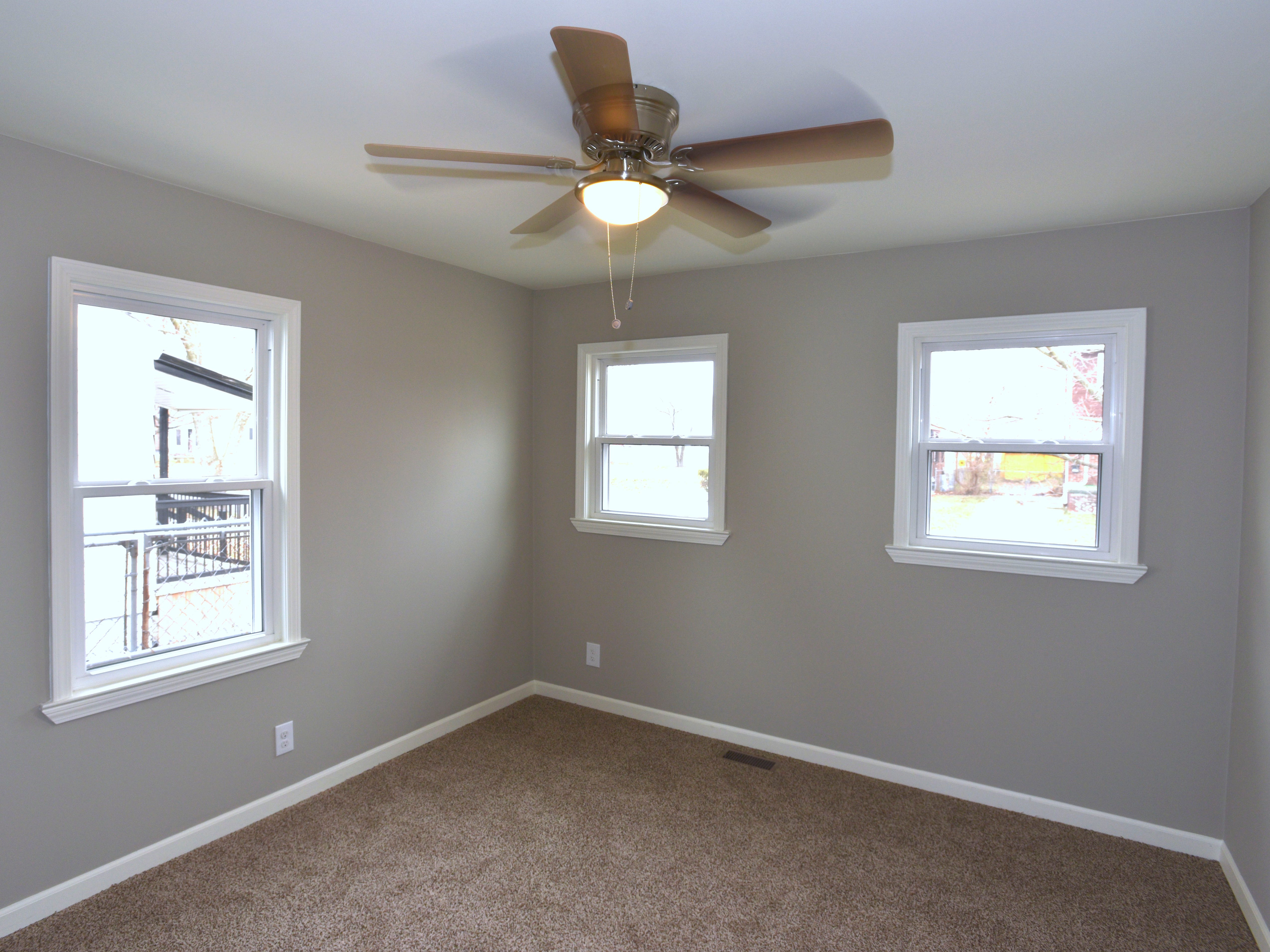 This is the newly renovated master bedroom.