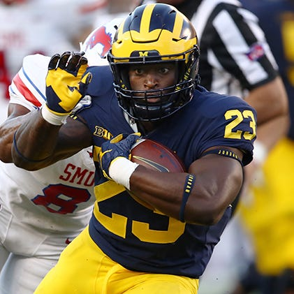 RB O'Maury Samuels charged with domestic violence, kicked off Michigan football team
