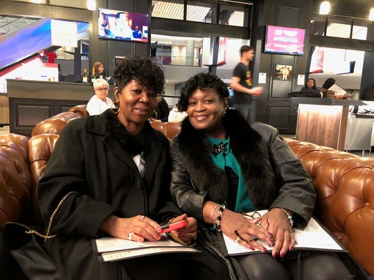 Sisters Joyce McKinley and Mia Alexander have tickets in the sixth row to see Michelle Obama after Alexander's three sons and their wives bought her an early a Christmas present.