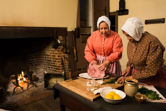 Holiday cooking demonstrations take place inside the historic homes at Greenfield Village.