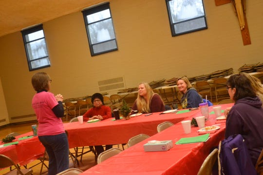 "During a recent meeting of ""Moms are BE YOU-tiful in Christ"" members talked about holiday traditions. The group meets twice a month for fellowship, education, and fun."