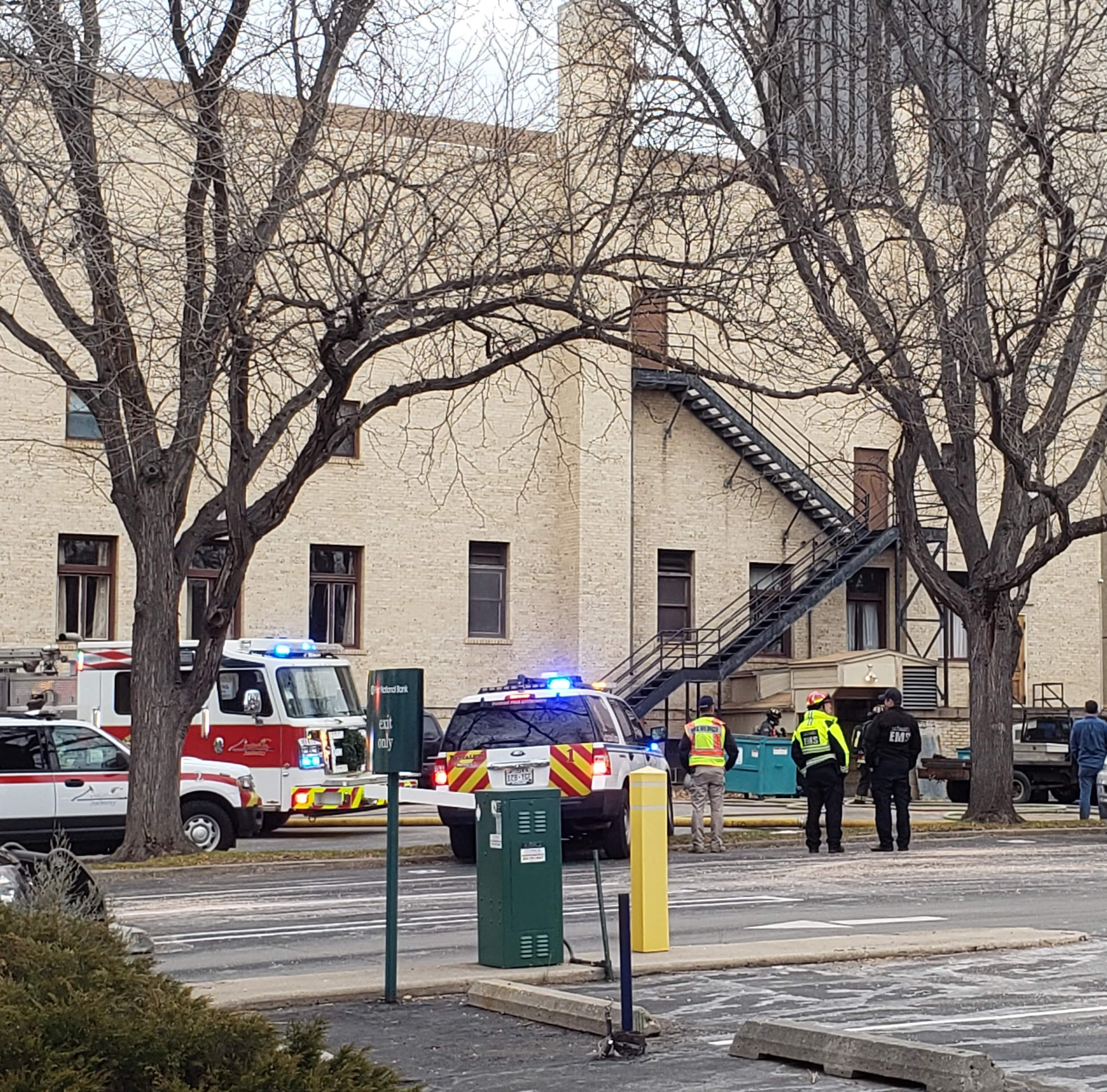 Fire in basement of Masonic Temple causes moderate damage; cause undetermined