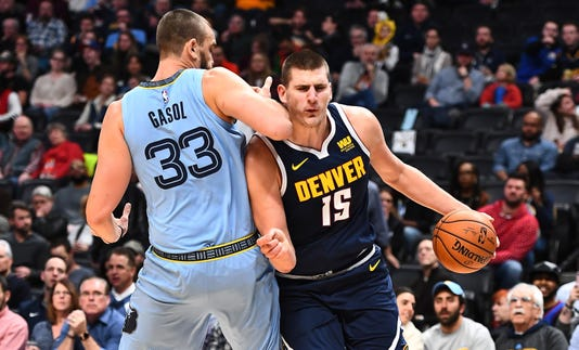 Nba Memphis Grizzlies At Denver Nuggets