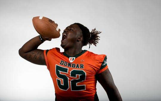 Derick Hunter Jr., Dunbar High School, Football Defense, Fall All-Area Athletes