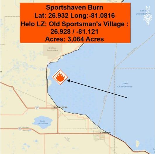 Sportshaven Burn Locator Map