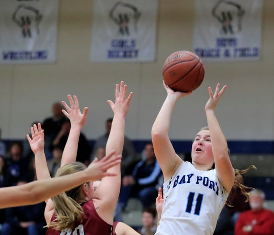 Emma Krueger (11) is one of the top players for Bay Port this season, the top-ranked team in the G10 power rankings. USA TODAY NETWORK-Wisconsin