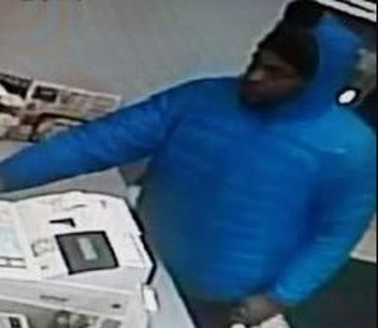 The man police say is believed to be involved in the armed robbery of two Green Bay businesses Tuesday night.