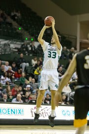 Junior guard Cody Schwartz is averaging career-highs in points and rebounds during his first season with the University of Wisconsin-Green Bay.