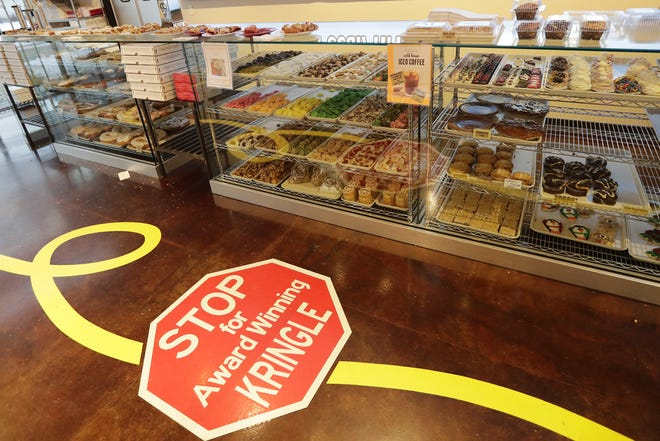 Baked goods are displayed at Uncle Mike's Bake Shoppe's newest location on  East Mason Street.