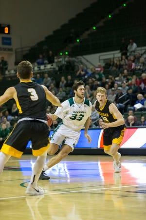 UWGB junior Cody Schwartz had a season-high 18 points against Eastern Washington after starting slowly this season.