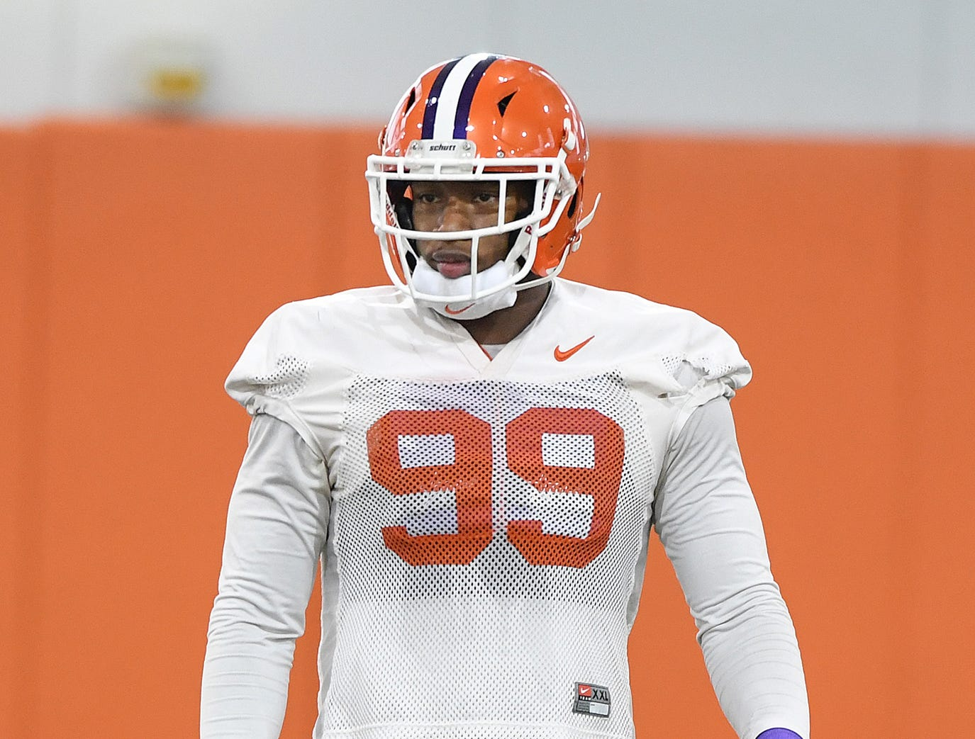 Clemson defensive lineman Clelin Ferrell (99) during the Tigers Cotton Bowl practice on Wednesday, December 12, 2018.