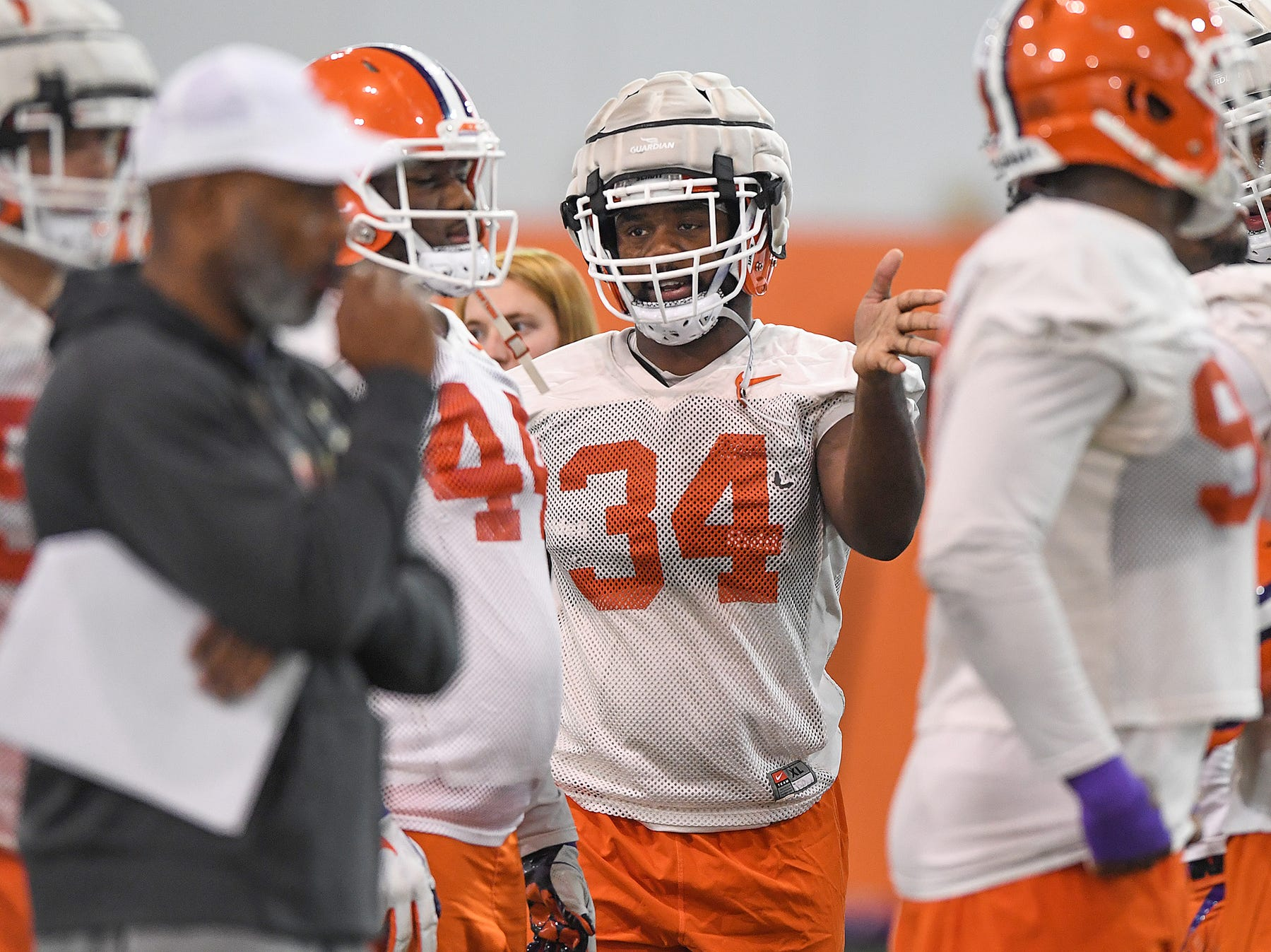 Clemson linebacker Kendall Joseph (34) during the Tigers Cotton Bowl practice on Wednesday, December 12, 2018.