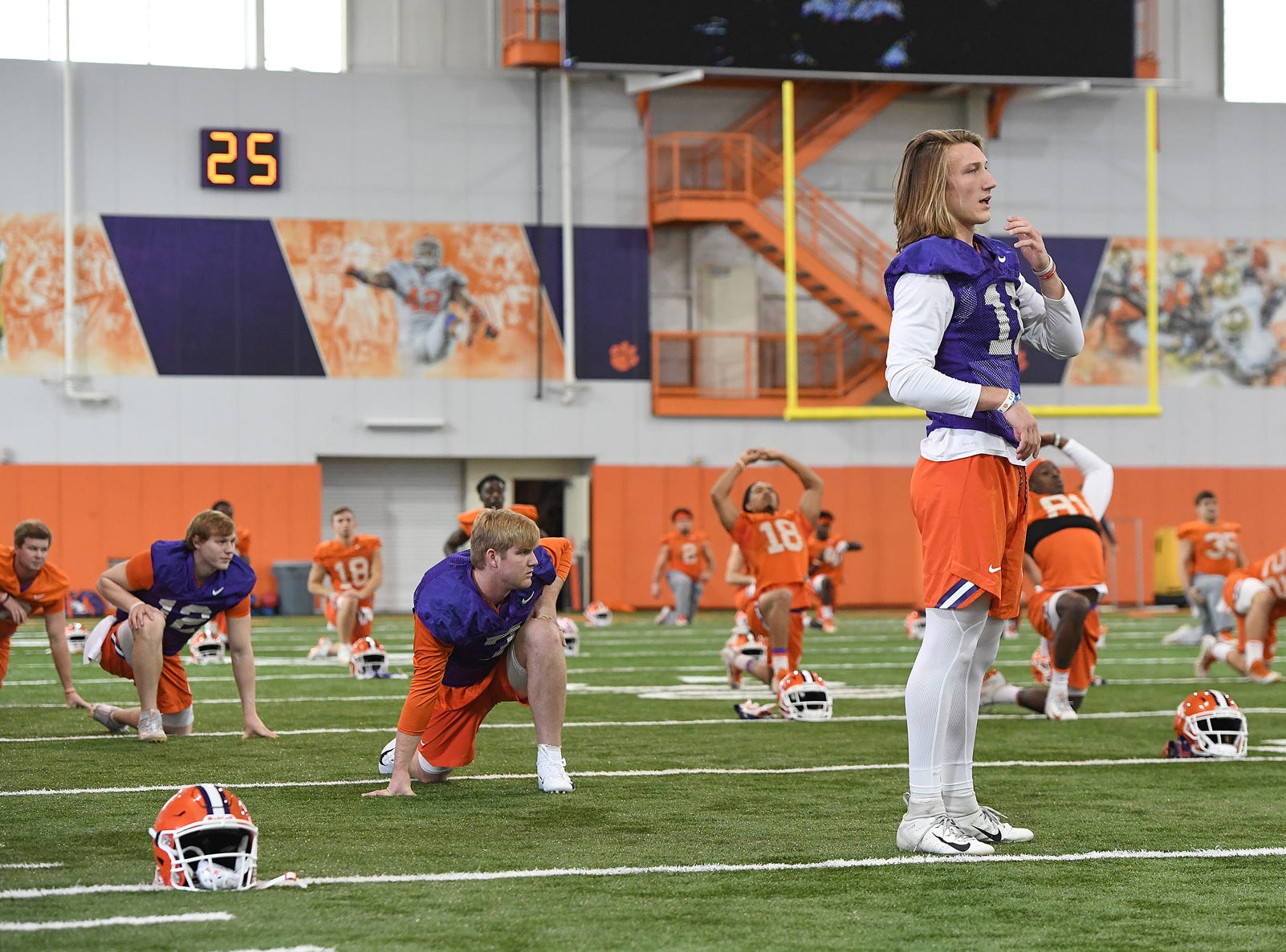 Clemson quarterback Trevor Lawrence (16) during the Tigers Cotton Bowl practice on Wednesday, December 12, 2018.