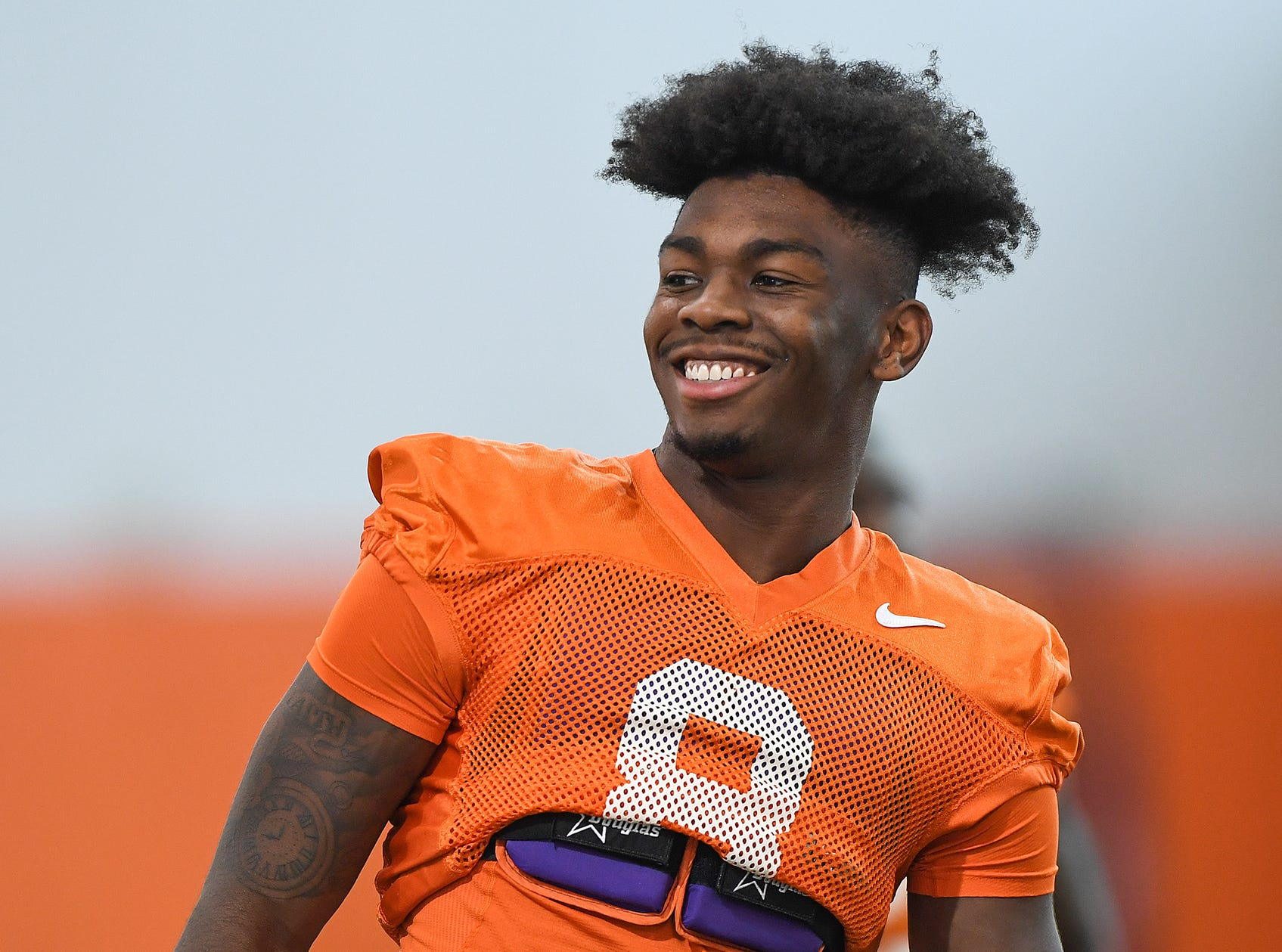 Clemson wide receiver Justyn Ross (8) during the Tigers Cotton Bowl practice on Wednesday, December 12, 2018.