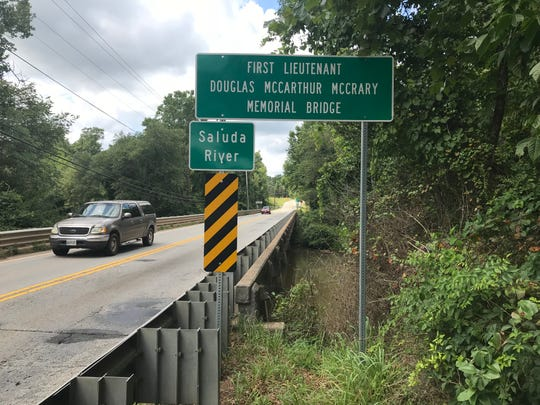 This photo, taken in July, shows an overview of the 1st Lt. Douglas MacArthur McCrary Bridge over the Saluda River on State 183.