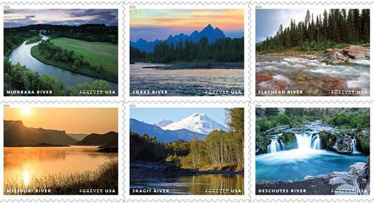 The Flathead and Missouri rivers are features on a stamp series celebrating the 50th anniversary of the passage of the Wild and Scenic Rivers Act of 1968 turned 50 this year