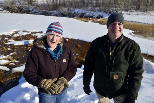 "Autumn Coleman, manager of the DEQ's Abandoned Mine Lands Program, and Tom Henderson, a project manager in the program, talked about a future treatment program for water draining from the Anaconda Belt Mine into Belt Creek in 2015. ""He was very passionate about clean water,"" Coleman said of Henderson, who died in October."